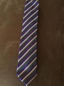Purple striped tie
