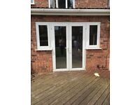 Patio doors with side windows