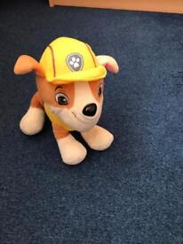 Rubble from paw patrol teddy
