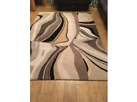 Brown and Cream Large Rug