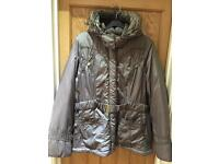 George Brown/gold padded coat Size 20-22