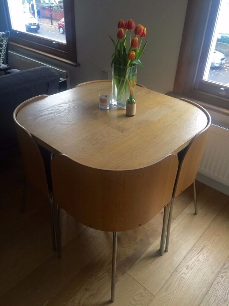 Discontinued ikea fusion space saving compact table with 4 for Table de fusion ikea