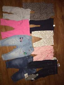 Baby girl trouser bundle 0-6months