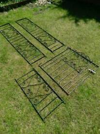 Garden railings and gate