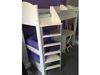 Stomper Casa 2 High Sleeper & Mattress - Purple