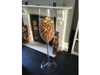 Giant Champagne Flute – PRICED FOR QUICK SALE