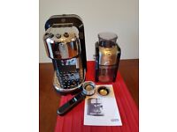 Delonghi coffee espresso machine and Krups bean grinder