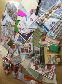 Job lot art & craft materials card making decoupage etc