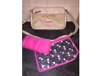 Pink Lining Mini Yummy Mummy Bag - Cream Bows on Pink🎀