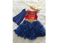 Wonder Woman fancy dress costume age 3 - 4
