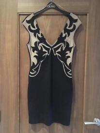 Black & nude dress size 10