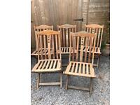 Beautiful Set of Solid Wood Folding Garden Chairs