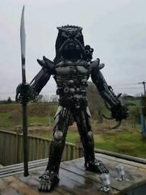Predator metal sculpture garden