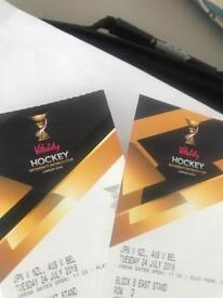 2x Women Hockey World Cup Tickets on 24/7/18