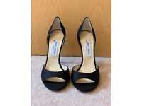 Black leather Jimmy Choo shoes high heels size 40 (Uk 7)