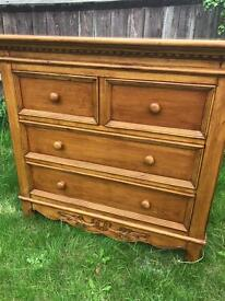 French Style Solid Wood Chest of Drawers (Can Deliver)