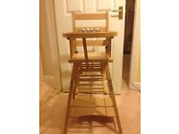Great high chair and table system