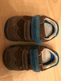 Clarks Baby First Shoes Size 3 1/2