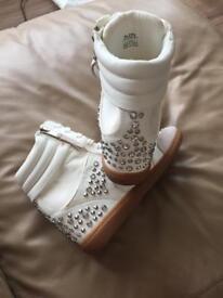 ALDO wedge heel trainers