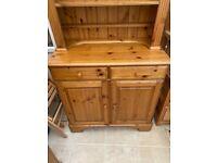 Pine dresser (bookcase and cupboard)