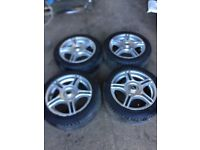 Genuine TSW R System set of alloy wheels and tyres