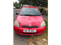 (Good Condition) Toyota YARIS [RED] 2000 (W Reg) Petrol 1.3L Engine