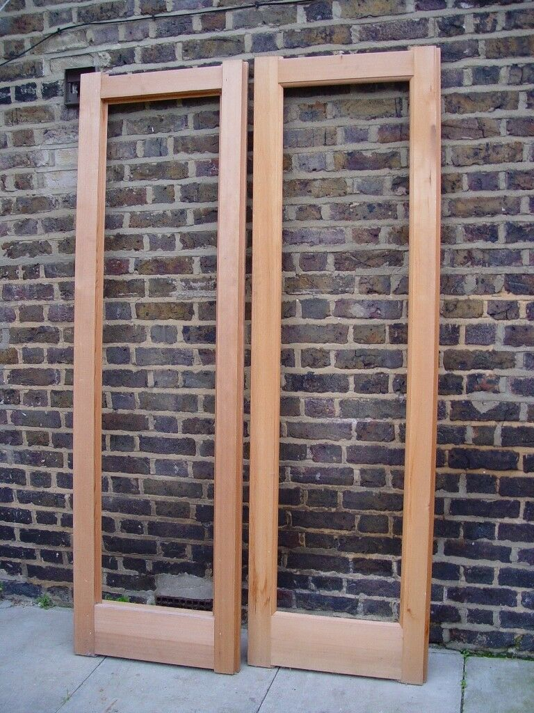 FREE DELIVERY X2 Wooden Unglazed Doors S