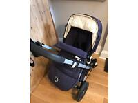 Bugaboo Cameleon 3 Classic + in Navy with off white quilted lining