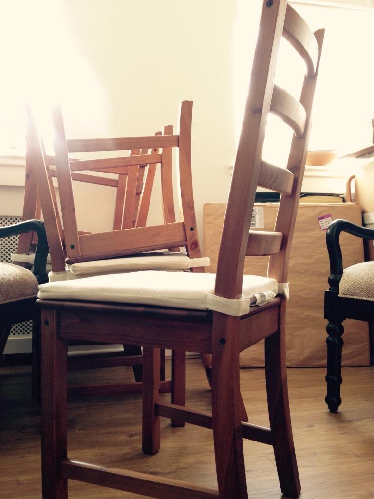 2 ikea dining chairs oak finish in chelsea london gumtree - Oak dining chairs ikea ...
