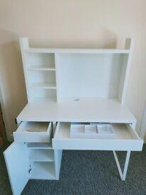 IKEA Micke Desk + Free IKEA Box Set of 7 Malaren Organizer