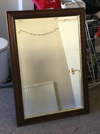 Dark Wooden Framed Mirror