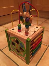 EverEarth wooden activity cube