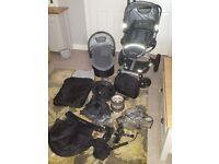 Quinny Buzz Xtra Pushchair in Rocking Black / Travel System