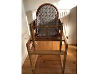 Wooden high chair £10