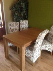 Dining table and 4 chairs £150