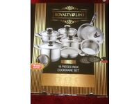 Pan Set - Brand New Royalty Line 16 Piece Cookware Set. Selling for £299 on Amazon - Yours For £150.