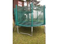14ft Trampoline with net and ladders