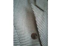 Navy-blue & white Dog-tooth Jacket/Skirt Size 10 £10