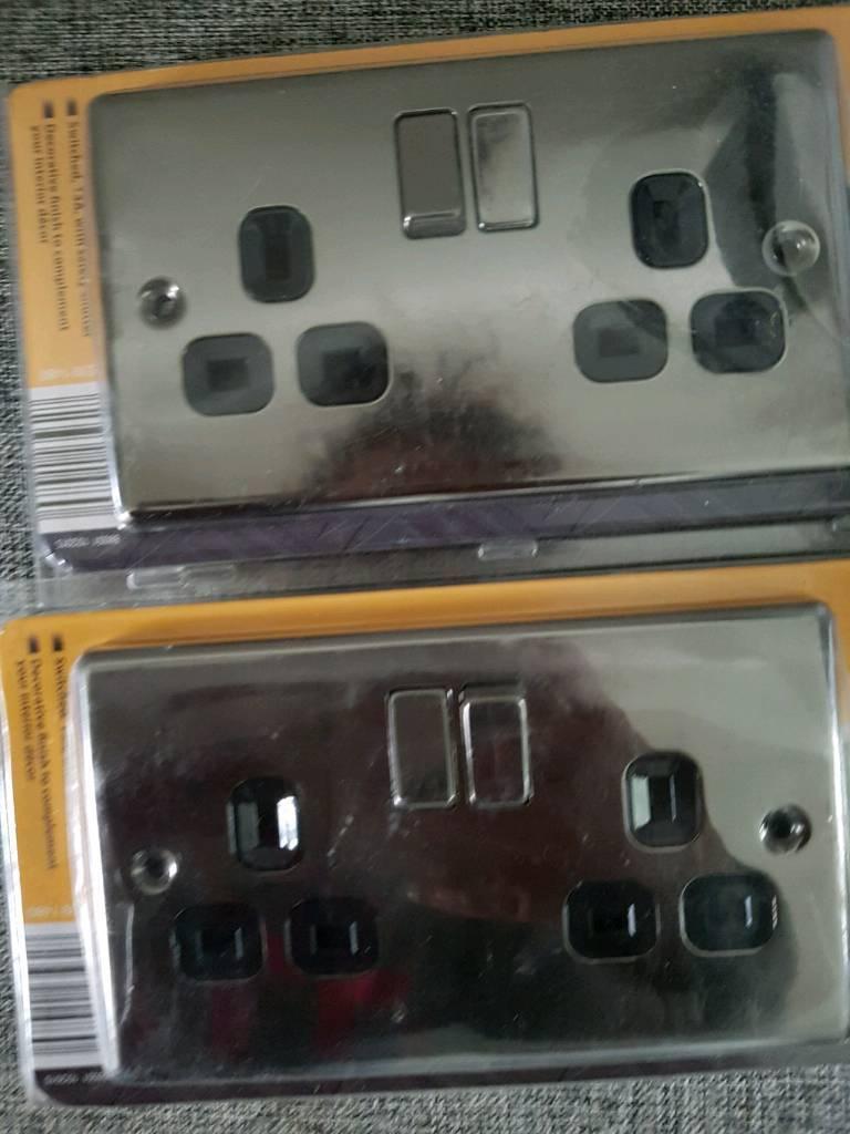 2x double sockets new