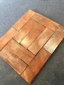 Wood block flooring £60 a bag x3 bags