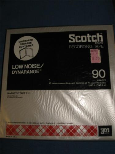 3m Scotch Brand Reel To Reel Recording Magnetic Tape 212, 90 Min, Nib, (731)