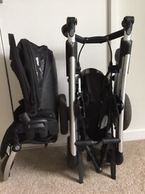 Maxi Cosi Elea Pushchair, pebble car seat & isofix base
