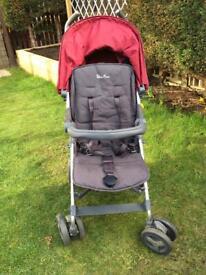 Silvercross Red Reflex Pushchair with newborn kit. Nearest offer will be considered.
