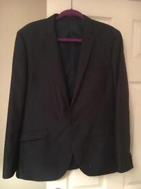 Men's blue suit jacket