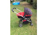 icandy cherry pram with baby and infant unit