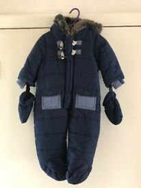 3-6mths Boys snowsuit