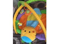 Playmat and baby gym