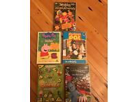 5 under 5's DVD's selection, peppa pig, CBeebies etc