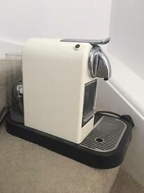 Nespresso coffee machine with milk frother