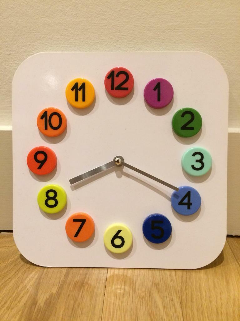 Cute, colorful IKEA clock